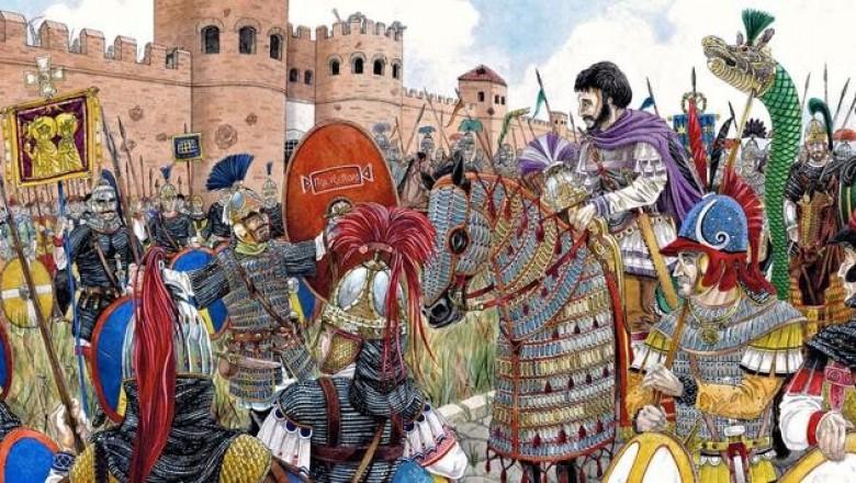 Битва при Дециме и другие главные битвы императора Юстиниана.
